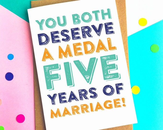 Personalised Deserve A Medal Anniversary Funny Greeting Card