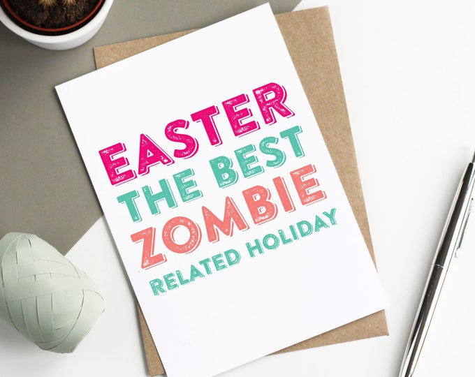 Easter the Best Zombie Holiday Funny Easter Celebration Greetings Card