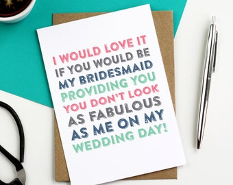 I Would Love it If You Would Be My Best Man Funny Typographic Simple Greeting Card DYPW021