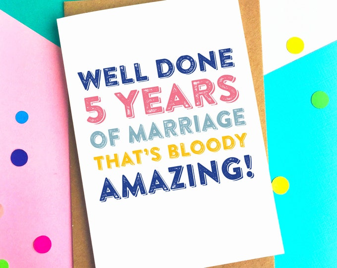 Personalised Bloody Good Going Number of Years Anniversary Celebration Greeting Card