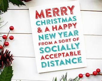 Merry Christmas Socially Acceptable Christmas Card