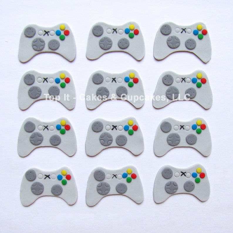 Fondant Cupcake Toppers  Video Game Controller image 0
