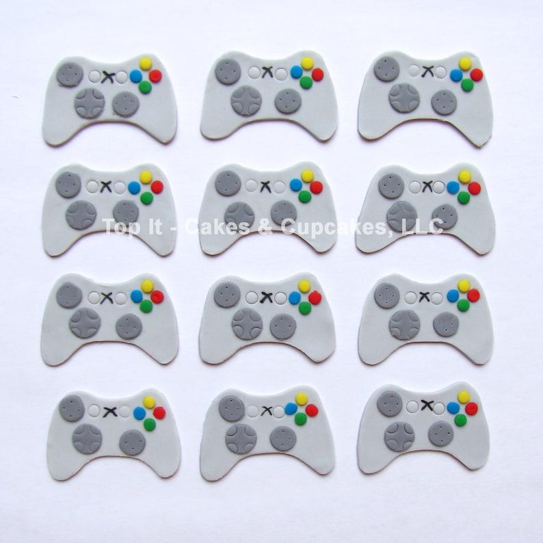 Fondant Cupcake Toppers  Video Game Controller 1.5 dozen image 0