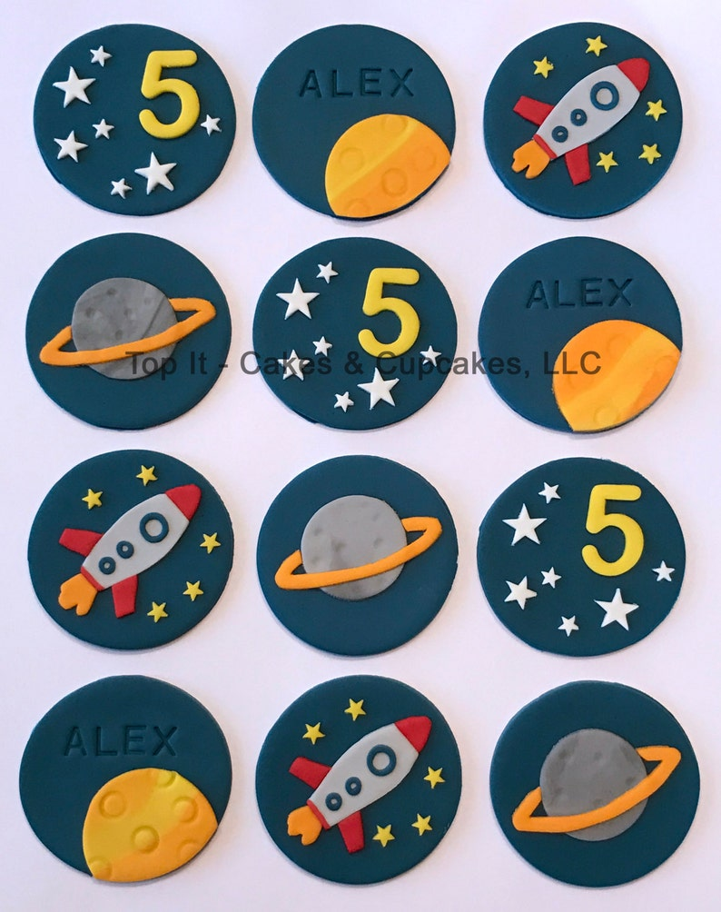 Fondant Cupcake Toppers  Space image 0