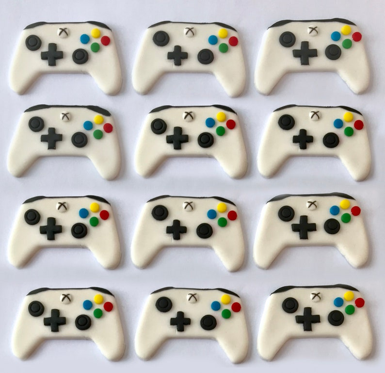 Fondant Cupcake Toppers  Video Game Controller  One image 0