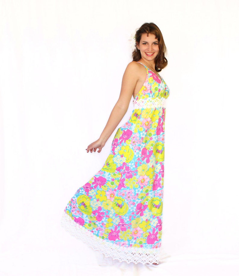 2d981acafa7 60s Lilly Pulitzer Dress. The Lilly Maxi Summer Dress. Twee