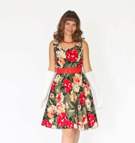 años 60 swing vestido. Moda de Mad Men. Vestido de flores de | Etsy