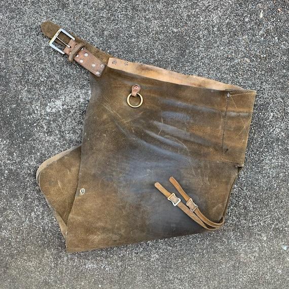 Vintage Leather Waist Apron Workwear