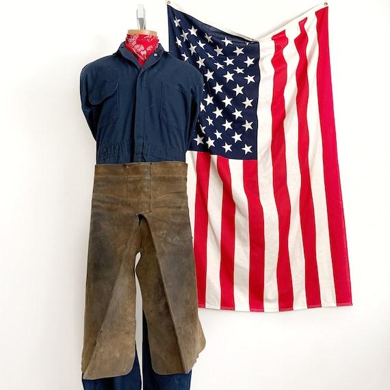 Vintage Leather Waist Apron Workwear - image 8