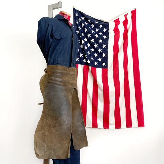 Vintage Leather Waist Apron Workwear - image 9