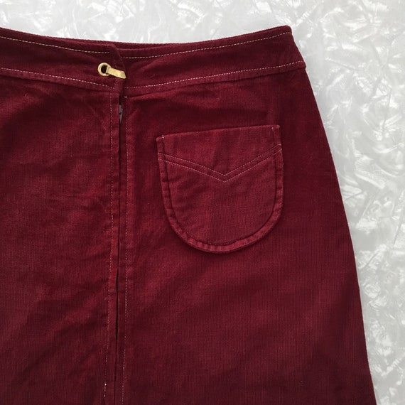 Vintage Maxi Skirt Red Corduroy Size Small