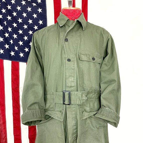 Vintage Coveralls Army WW2 Jumpsuit Size Large 38R