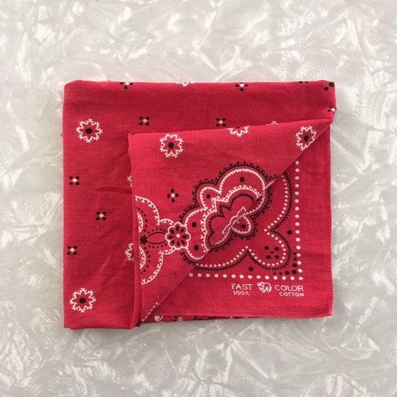 Vintage Handkerchief Trunk Down Elephant Bandana