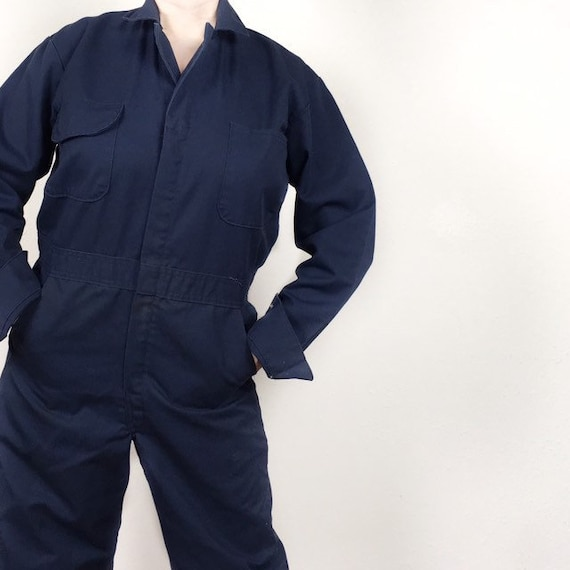Navy Blue Coveralls Vintage Workwear Wrangler Jump