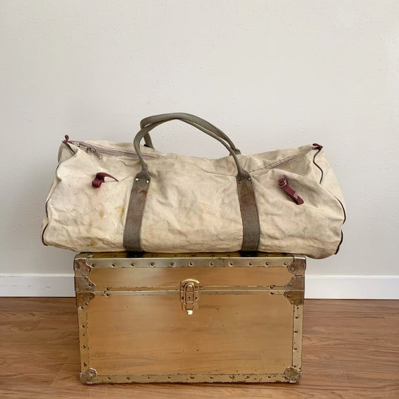 Vintage Canvas Duffel Bag As-Is