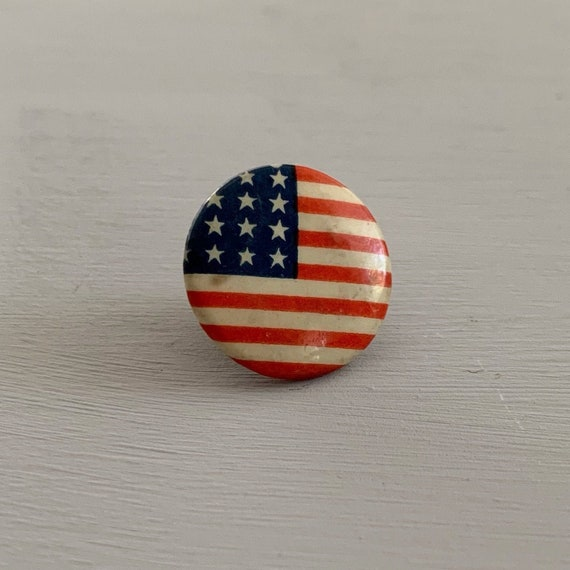 American Pin Proud American Pin Patriotic Button Vintage Americana Button Freedom Pin Gift for Patriot Love America Rainbow Pin