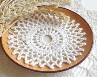 SALE 10% OFF: Small crochet doilies Crochet doily Round white handmade cotton lace doilies Small crochet doilies 204