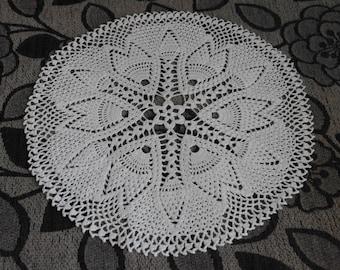 SALE 15% OFF: Crochet doily Round crochet doilies White handmade cotton lace doily Crocheted doilies Home decor Large crochet doily 68