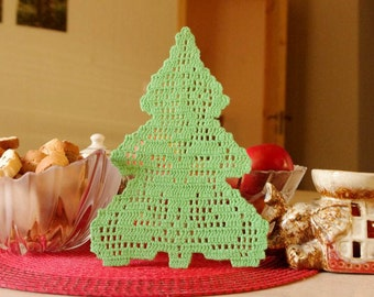 SALE 35% OFF: Christmas tree ornament Crochet decor Christmas tree Cotton crochet Christmas tree decor