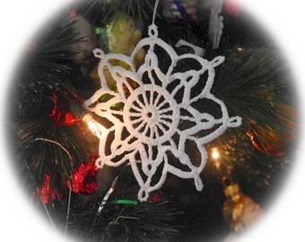 Crochet snowflake Christmas ornament Hanging decoration Lace snowflakes Hanging Christmas ornaments Winter decor S3