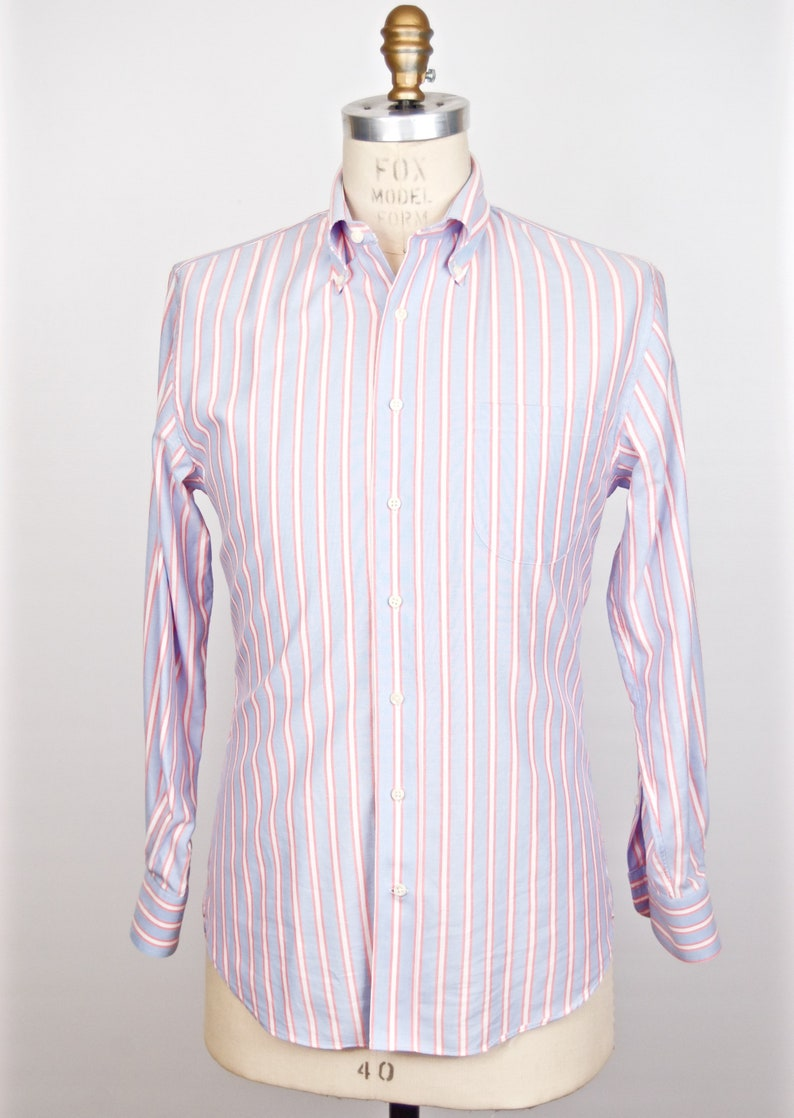 82043a9866e5 Sid Mashburn Striped Oxford Button-down Shirt   OCBD light red