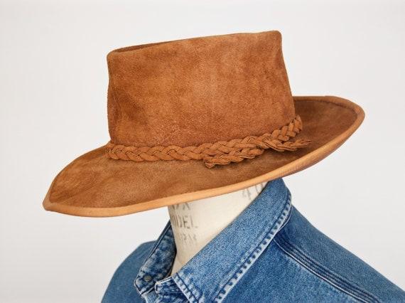 Brown Suede Australian Bush Hat   Henschel-Skully men s  3e6573b5079f