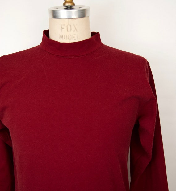 1970s-80s Russell Athletic Shirt w/ mock-neck in … - image 2