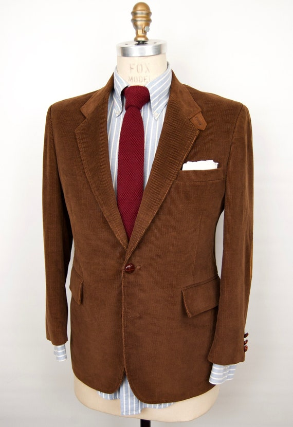 Suede Elbow Patches Corduroy Sport Coat / 1970s-80