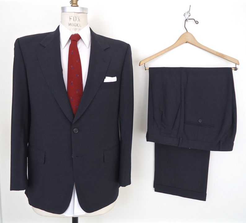 Sale Gieves Hawkes Two Piece Suit Savile Row Charcoal Etsy