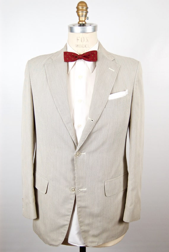 Sale Brooks Brothers Ivory Sport Coat Off White Cream Suit Etsy
