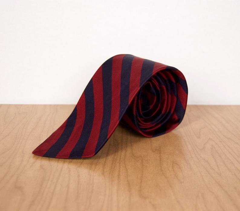 e01385868d75 Brooks Brothers Makers Repp Tie / vintage ivy league blue & | Etsy