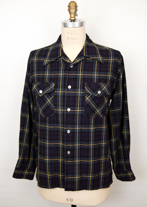 1960s-70s Loop Collar Wool Flannel