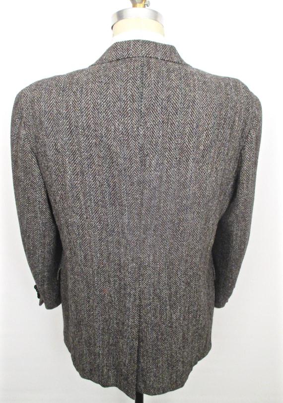 Tweed Harris Fischgrätenmuster Mantel Grau Herren fv7IYg6yb