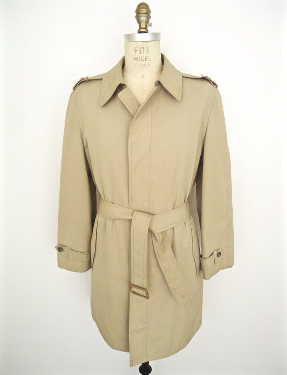 d64a4ccb984 Lyst London Fog Plus Size Hooded Belted Trench Coat In Natural