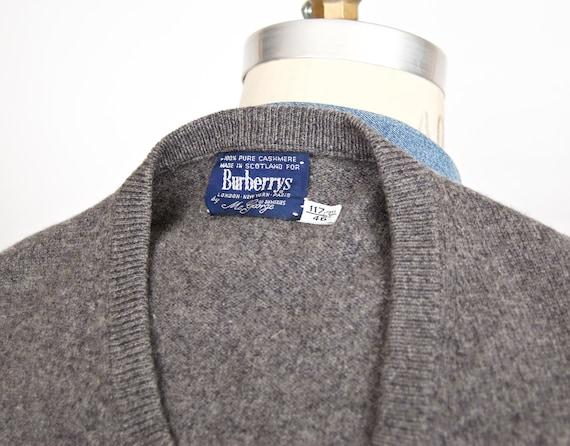 Herren Burberry Kaschmir Mit V Ausschnitt Pullover Braun