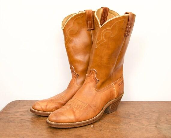 1980s Dingo Tan Western Boots