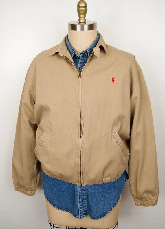 1980s Polo Ralph Lauren Khaki Jacket / men's mediu