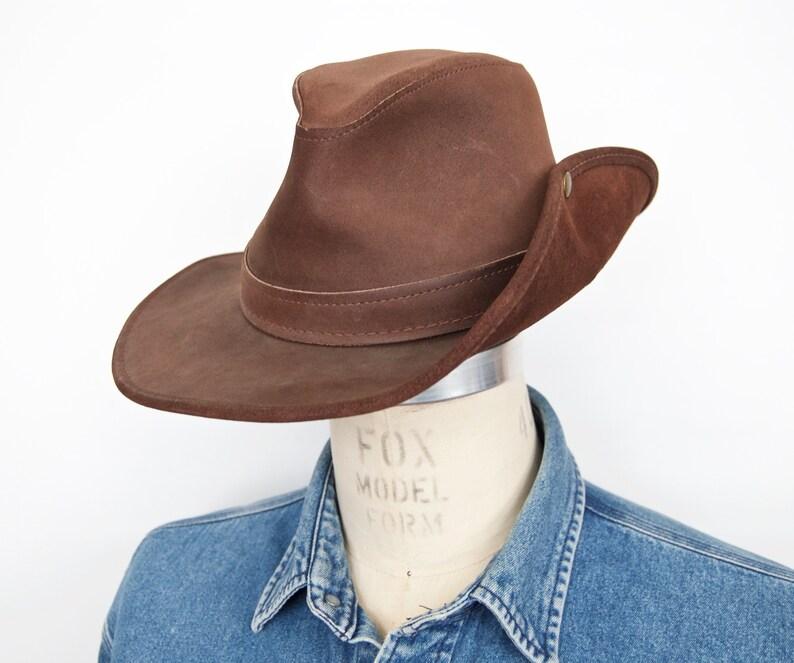 685ddce1a2e80 Vintage Australian Bush Hat with Side Snap   Henschel-Skully