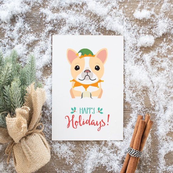 Meme holiday cards french bulldog yass christmas cards m4hsunfo