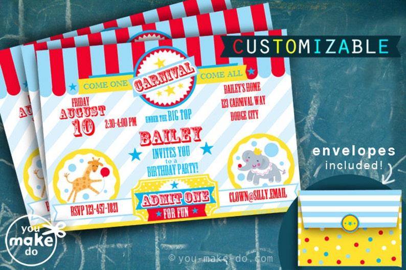 Carnival Invitation Birthday