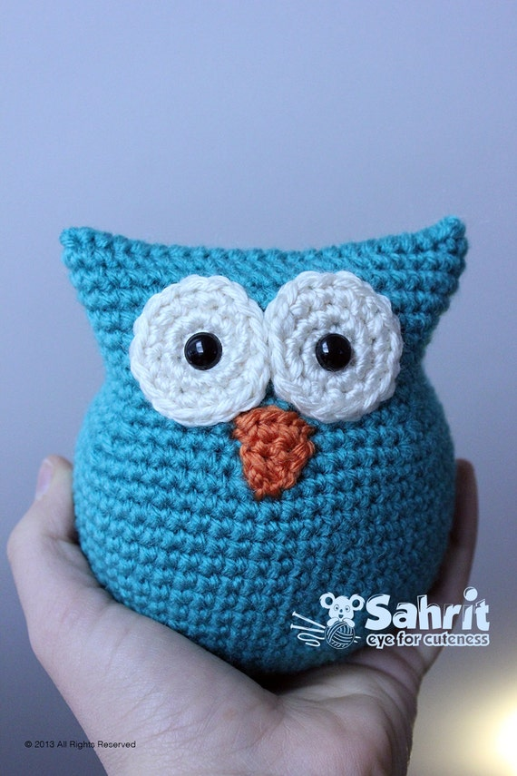 English Pattern Instant Download O So Cute Owl Crochet Etsy