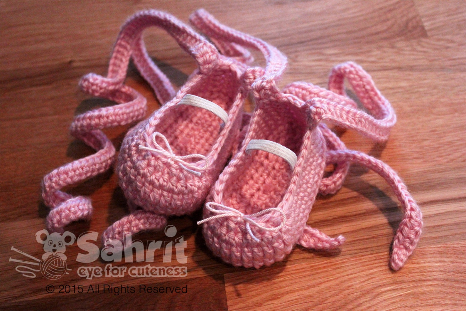 pattern instant download baby ballet crochet shoes slippers flats