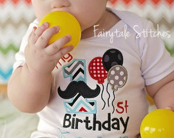 My First Birthday, Mustache Birthday, Mustache Birthday Shirt, Mustache Shirt, Boy Birthday Shirt, First Birthday Shirt, Cake Smash