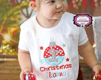 My First Christmas, My First Christmas Bib, First Christmas Bib, Holiday Bib, Baby Shower Gift, Baby Christmas