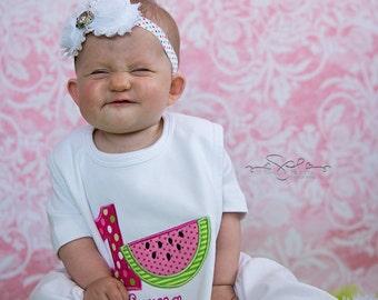 Watermelon Bib, Watermelon Birthday, First Birthday Bib, Birthday Bib, Girl First Birthday, Cake Smash