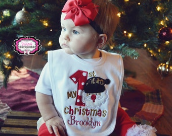 My First Christmas, First Christmas, My First Christmas Bib, Christmas Bib, Holiday Bib, Baby Shower Gift