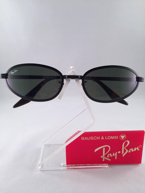 Vintage Ray Ban Bausch und Lomb Schwarz Metall Oval rund G15