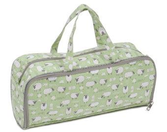 Knitting needle case, Sheep knitting project bag, knitting needle case and storage bag, project bag, sheep gift, knitting gift
