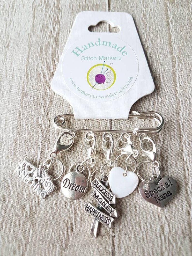 Stitch markers personalised stitch markers gift for mum image 0