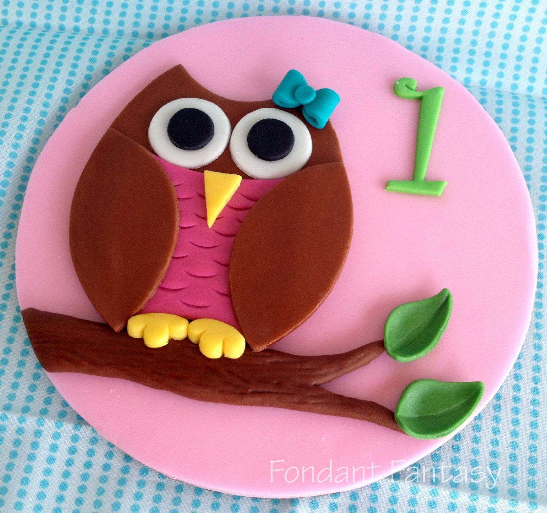6 Zoll Skurrilen Eule Cake Topper Etsy